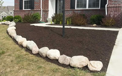 Bark Mulch Delivery And Installation Brownsburg Indiana.
